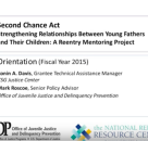 2015 Second Chance Act Orientation for Young Father Mentoring Grantees