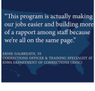 Second Chance Act Spotlight: Grant Awards Help Iowa Corrections Officers Focus Efforts to Improve Reentry Outcomes